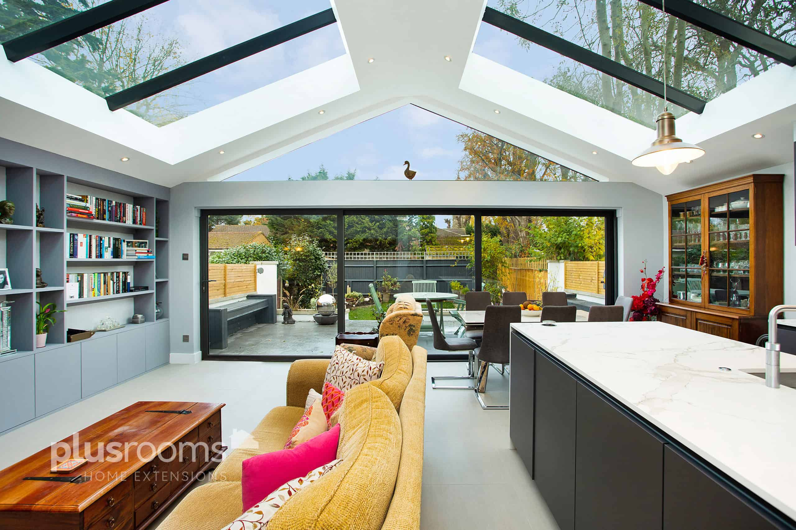 Kitchen family room extension ideas